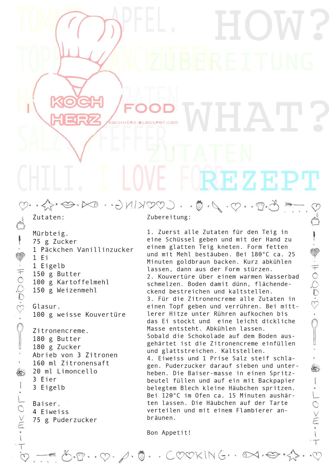 Zitronentarte - Rezept zum Download